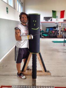 Fabrizio Floreani in palestra foto allenatore